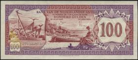 Niederl. Antillen / Netherlands Antilles P.19b 100 Gulden 1981