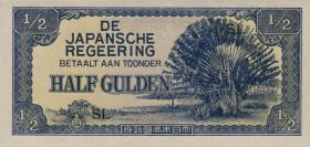 Ndl. Indien / Netherlands Indies P.122b 1/2 Gulden (1942) (1)