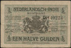Ndl. Indien / Netherlands Indies P.102 1/2 Gulden 1920 (3)