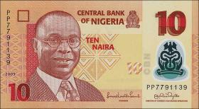 Nigeria P.39a 10 Naira 2009 Polymer (1)