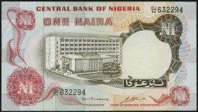 Nigeria P.15b 1 Naira (o.J.) (2)