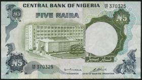 Nigeria P.16b 5 Naira (o.J.) (3+)