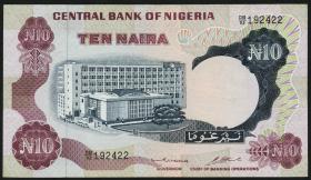 Nigeria P.17b 10 Naira (o.J.) (3+)