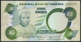Nigeria P.20a 5 Naira (1979-84) (2+)