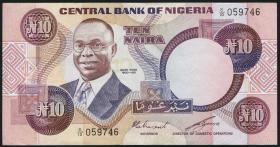 Nigeria P.21b 10 Naira (1979-84) (2)
