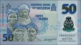 Nigeria P.40a 50 Naira 2009 Polymer (1)