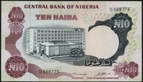 Nigeria P.17b 10 Naira (o.J.) (1/1-)
