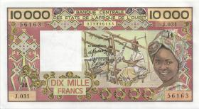 West-Afr.Staaten/West African States P.609Hh 10000 Francs (1977) Niger (1-)