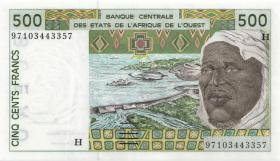 West-Afr.Staaten/West African States P.610Hg 500 Francs 1997 Niger (1)