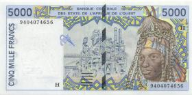 West-Afr.Staaten/West African States P.613Hb 5000 Francs 1994 Niger (1)
