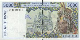 West-Afr.Staaten/West African States P.613Hj 5000 Francs 2001 Niger (1)