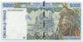 West-Afr.Staaten/West African States P.613Hk 5000 Francs 2002 Niger (1)