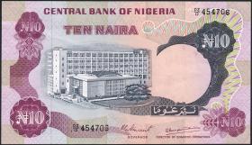 Nigeria P.17d 10 Naira (o.J.) (3+)