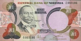 Nigeria P.23a 1 Naira (1984-) (1)