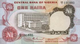 Nigeria P.15d 1 Naira (o.J.) (1-)