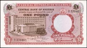 Nigeria P.08 1 Pound (1967) (1)