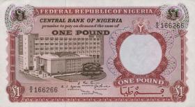 Nigeria P.08 1 Pound (1967) (1-)