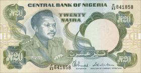 Nigeria P.26c 20 Naira (1984-) (1)