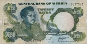 Nigeria P.26g 20 Naira 2001 (1)