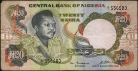 Nigeria P.18a 20 Naira (o.J.) (4)