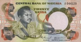 Nigeria P.18c 20 Naira (o.J.) (1/1-)