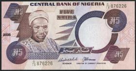 Nigeria P.24i 5 Naira 2005 (1)