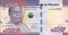 Nigeria P.41 100 Naira 2014 Gedenkbanknote (1)