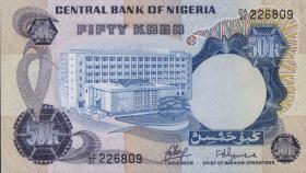 Nigeria P.14a 50 Kobo (1973-78) (1)