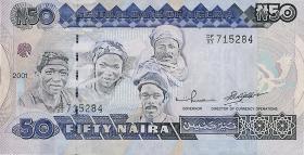 Nigeria P.27d 50 Naira 2001 (1)