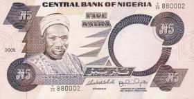 Nigeria P.24j 5 Naira 2005 (1)