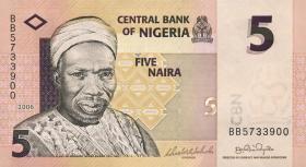 Nigeria P.32a 5 Naira 2006 (1)