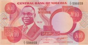 Nigeria P.25f 10 Naira 2002 (1)