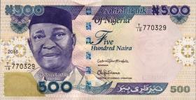 Nigeria P.30o 500 Naira 2016 (1)
