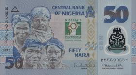 Nigeria P.37 50 Naira 2010 Polymer Gedenkbanknote (1)