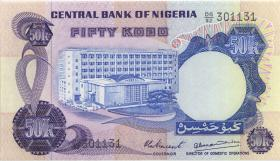 Nigeria P.14d 50 Kobo (1973-78) (1)