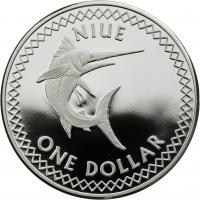 Niue Islands 1 Dollar 2010 Schwertfisch
