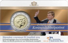 Niederlande 2 Euro 2014 Doppelporträt - Thronbesteigung Coincard