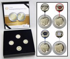 Niederlande 4 x 2 Euro 2014 Doppelporträt - Thronbesteigung