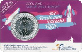 Niederlande 5 Euro 2013 Vertrag v. Utrecht