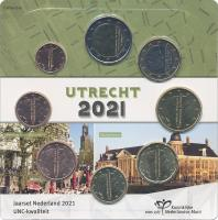 "Niederlande Euro-KMS 2021 ""Utrecht"" Blister"