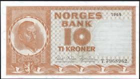 Norwegen / Norway P.31d 10 Kronen 1965-1969 (1)