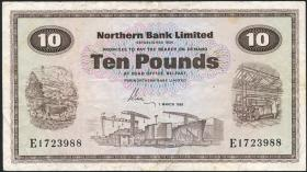 Nordirland / Northern Ireland P.189d 10 Pounds 1981 (3)