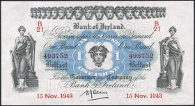 Nordirland / Northern Ireland P.055b 1 Pound 1943 (1/1-)