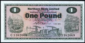 Nordirland / Northern Ireland P.187a 1 Pound 1970 (1)