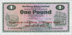 Nordirland / Northern Ireland P.187s 1 Pound 1970 Specimen (1)