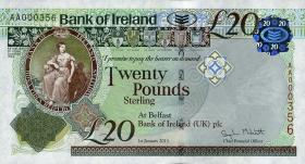 Nordirland / Northern Ireland P.088 20 Pounds 2013 Bank of Ireland (1)