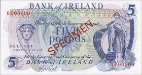 Nordirland / Northern Ireland P.062s 5 Pounds (1972-77) Specimen (1)