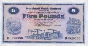 Nordirland / Northern Ireland P.188a 5 Pounds 1970 (1)