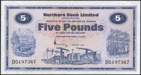Nordirland / Northern Ireland P.188b 5 Pounds 1976 (3+)
