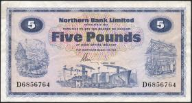 Nordirland / Northern Ireland P.188d 5 Pounds 1982 (3)